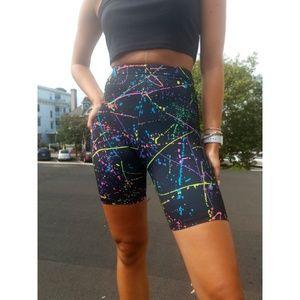 Vintage 90s Splatter Shorts